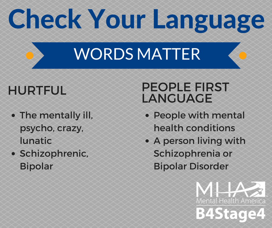 Check your Language - Words Matter