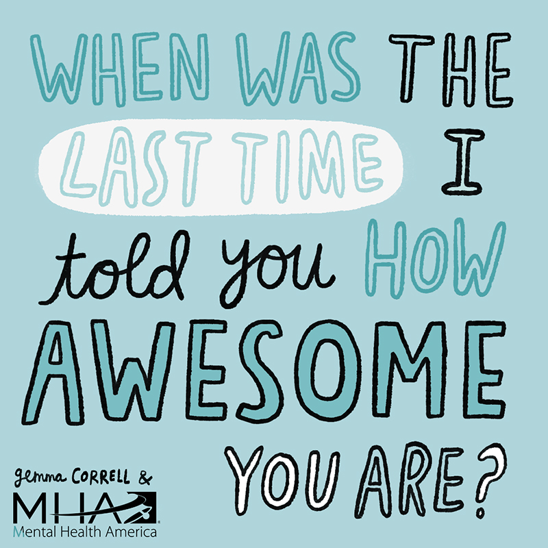 796b2debd ... MHA partner and artist Gemma Correll created the e-cards below. Post  one (or more) and tag someone who you think could use a little pick-me-up.
